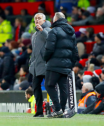 Manchester United manager Jose Mourinho on the touchline during the Premier League match at Old Trafford, Manchester.