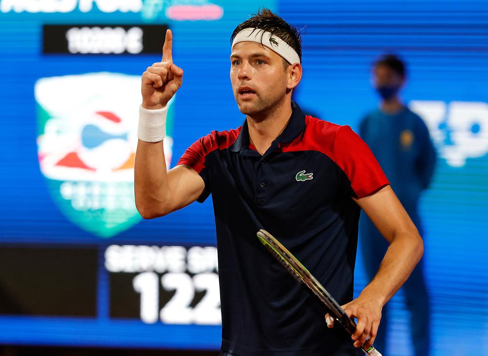 Tennis-ATP Serbia Open Belgrade 2021<br /> Filip Krajinovic v Nikola Milojevic<br /> Beograd, 21.04.2021.<br /> foto: Srdjan StevanovicStarsportphoto ©