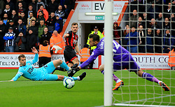 AFC Bournemouth's Ryan Fraser (centre) has a chance on goal during the Premier League match at the Vitality Stadium, Bournemouth.