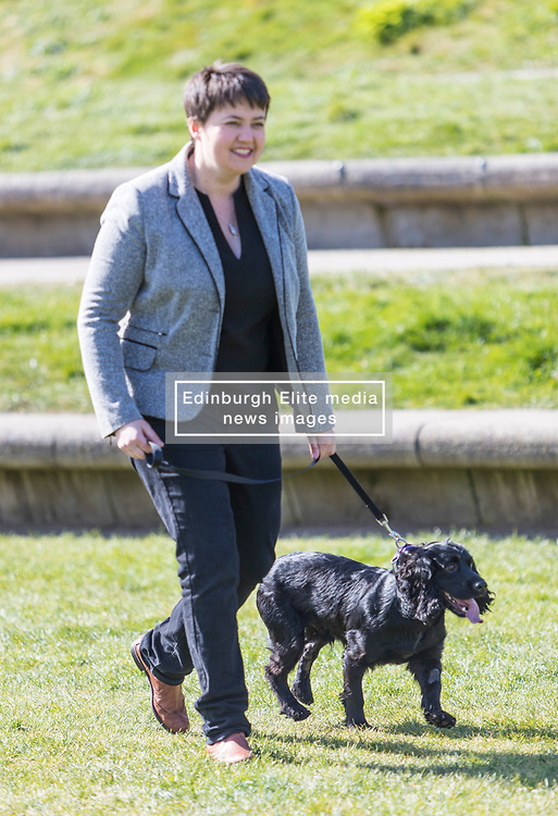 MSPs display their dogs and put them through an agility course with the winner decided by a public vote on the day.<br /> <br /> Pictured: Ruth Davidson with her dog Wilson