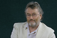 Best-selling Scottish fiction writer Iain Banks pictured at the Edinburgh International Book Festival where he talked about his latest work. The Book Festival was the World's largest literary event and featured writers from around the world. The 2006 event featured around 550 writers and ran from 13-28 August.