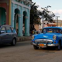Central America, Cuba, Remedios. Vintage car of Remedios.