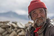 Portrait of a Rupshu nomad near Tso Kar lake on Ladakh's Changtang plateau