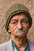 An elderly Iranian man on the  street in the city of Yazd, Iran. MODEL RELEASED.