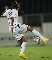 20100813: Tiago Manuel Dias Correia, better known as Bebe, has signed a five-year contract with Manchester United. The Red Devils have paid around 10 million euros to Vitoria Guimaraes. The 20-year-old forward was recommended by former Manchester United assistant coach and current Portugal head coach Carlos Queiroz. Son of Cape Verdean immigrants, the wonderkid was raised in the orphanage Casa do Gaiato for much of his life, and incredibly enough was also homeless for a while. He recently represented Portugal in the Homeless World Cup. He was spotted by third division Portuguese club Estrela Amadora. Just five weeks ago he signed for Vitoria Guimaraes on a free transfer after Estrela Amadora failed to pay his wages. Though he never made an official appearance for Guimaraes, his form in pre-season only confirmed United's assessment of the player. Bebe was also being closely followed by Real Madrid. **File Photo** 20100702: GUIMARAES, PORTUGAL - Vitoria Guimaraes vs Maritimo: Friendly Match. In picture: Bebe (Guimaraes). PHOTO: CITYFILES