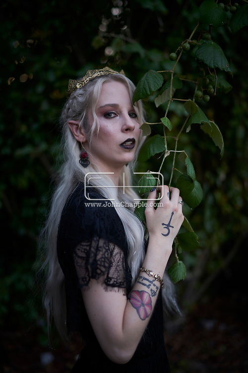 June 10, 2018. Austin, Texas. The Vampire Court of Austin, Texas. Pictured is the Vampire Queen, Daley South.<br /> Photo Copyright John Chapple / www.JohnChapple.com