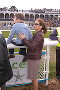 Princess Khatani and her son Piruz. Ludlow Charity Race Day,  in aid of Action Medical Research. Ludlow racecourse. 24 march 2005. ONE TIME USE ONLY - DO NOT ARCHIVE  © Copyright Photograph by Dafydd Jones 66 Stockwell Park Rd. London SW9 0DA Tel 020 7733 0108 www.dafjones.com