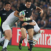 Richard Kahui, New Zealand, in action during the New Zealand V France, Pool A match during the IRB Rugby World Cup tournament. Eden Park, Auckland, New Zealand, 24th September 2011. Photo Tim Clayton...