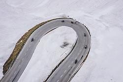 THEMENBILD - Motorradfahrer in einer Kehre umringt von Schnee. Die Hochalpenstrasse verbindet die beiden Bundeslaender Salzburg und Kaernten und ist als Erlebnisstrasse vorrangig von touristischer Bedeutung, aufgenommen am 11. Juni 2020 in Heiligenblut, Österreich // Motorcyclist in a turn surrounded by snow. The High Alpine Road connects the two provinces of Salzburg and Carinthia and is as an adventure road priority of tourist interest, Heiligenblut, Austria on 2020/06/11. EXPA Pictures © 2020, PhotoCredit: EXPA/ JFK
