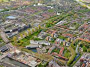 Nederland, Noord-Holland, Purmerend, 07-05-2021; Purmerend centrum, Satdhuis (voormalig Stadsziekenhuis). Achter het staion De Gors.<br /> luchtfoto (toeslag op standaard tarieven);<br /> aerial photo (additional fee required)<br /> copyright © 2021 foto/photo Siebe Swart.