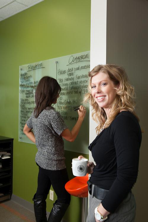 14 September 2012- Julie Hockney and Rachel are photographed at The Style Bar in Omaha, Nebraska for Omaha Magazine.