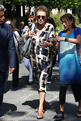 Lyne Cohen-Solal attending the funeral ceremony of French designer Sonia Rykiel at the Montparnasse cemetery in Paris, France on September 1, 2016. The 86 years old pioneer of Parisian womenswear from the late 1960's onwards, has died from a Parkinson's disease-related illness. Photo by ABACAPRESS.COM
