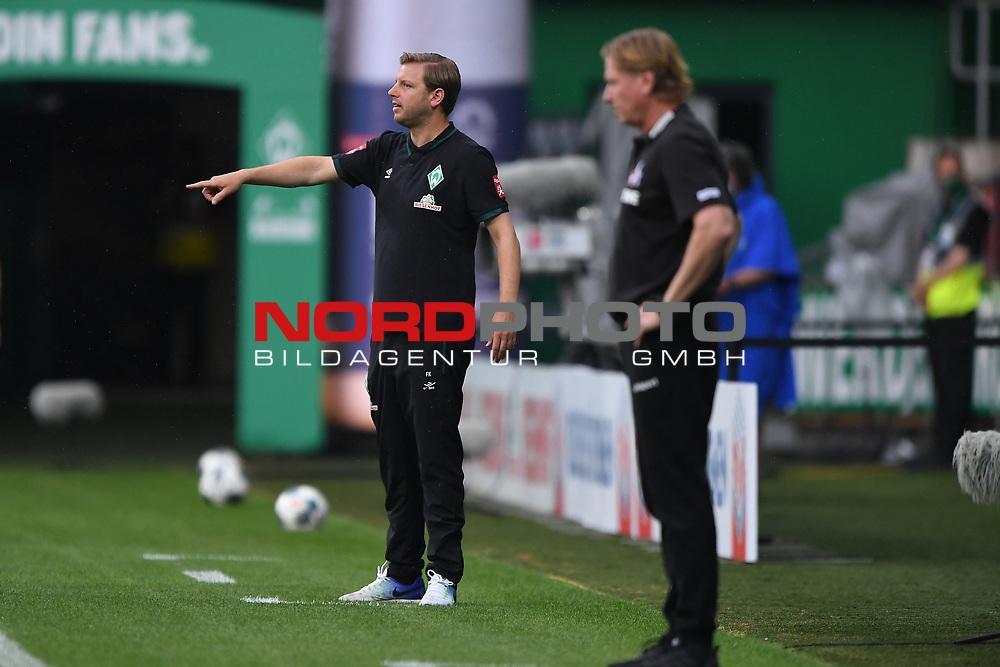 Trainer Florian Kohfeld (Werder Bremen), im Vordergrund Trainer Markus Gisdol (1. FC Koeln).<br /> <br /> Sport: Fussball: 1. Bundesliga:: nphgm001:  Saison 19/20: 34. Spieltag: SV Werder Bremen - 1. FC Koeln, 27.06.2020<br /> <br /> Foto: Marvin Ibo Güngör/GES/Pool/via gumzmedia/nordphoto