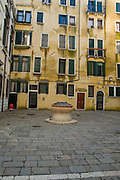 Italy, Venice, The water well in the Jewish Ghetto
