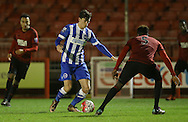 Jack Harper, Brighton midfielder during the Barclays U21 Premier League match between Brighton U21 and U21 West Bromwich Albion at the Checkatrade.com Stadium, Crawley, England on 25 January 2016.