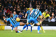Burton Albion forward Lucas Akins (10) shoots at goal during the EFL Sky Bet League 1 match between Burton Albion and Gillingham at the Pirelli Stadium, Burton upon Trent, England on 12 January 2019.