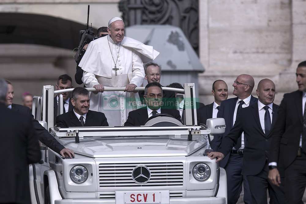 Vatican, Rome - May 1, 2019.Pope Francis during his weekly General Audience in St. Peter's Square at the Vatican May 01, 2019. (Credit Image: © Maria Grazia Picciarella/Ropi via ZUMA Press)