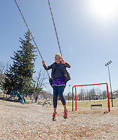 Spring day at Leavitt Park Playground.  Karen Bobotas/ for the Laconia Daily Sun