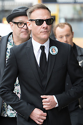 © Licensed to London News Pictures . 30/06/2017 . Stockport , UK . ANTONY COTTON arrives . The funeral of Martyn Hett at Stockport Town Hall . Martyn Hett was 29 years old when he was one of 22 people killed on 22 May 2017 in a murderous terrorist bombing committed by Salman Abedi, after an Ariana Grande concert at the Manchester Arena . Photo credit : Joel Goodman/LNP