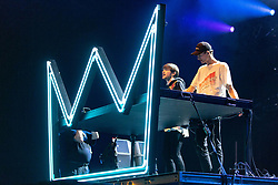 July 3, 2018 - Milwaukee, Wisconsin, U.S - FREDERIC KENNETT and ROBERT HAULDREN of Louis The Child during Summerfest Music Festival at Henry Maier Festival Park in Milwaukee, Wisconsin (Credit Image: © Daniel DeSlover via ZUMA Wire)
