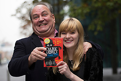 © licensed to London News Pictures. London, UK 06/11/2012. Author Jamie Thomson and illustrator Freya Hartas posing after winning Roald Dahl Funny Prize with their children's book Dark Lord: Teenage Years. Photo credit: Tolga Akmen/LNP