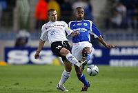Fotball<br /> Frankrike 2004/05<br /> Strasbourg v Istres<br /> 28. august 2004<br /> Foto: Digitalsport<br /> NORWAY ONLY<br />  FLORIAN MAURICE (IST) / CEDRIC KANTE (STR)