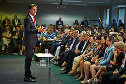 © Licensed to London News Pictures.  19/07/2014. Milton Keynes, UK. Labour leader ED MILIBAND making a speech to the 2014 National Policy Forum (NPF) being held at the Kents Hill Training Centre in Milton Keynes. Photo credit: Cliff Hide/LNP