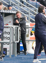Inverness Caledonian Thistle's manager John Robertson after Inverness Caledonian Thistle's John Baird missed a chance. Falkirk 0 v 0 Inverness Caledonian Thistle, Scottish Championship game played 14/10/2017 at The Falkirk Stadium.