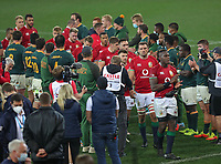 Rugby Union - 2021 British & Irish Lions Tour of South Africa - Second Test: South Africa vs British & Irish Lions<br /> <br /> Maro Itoje and the Lions applaud the Springboks on their victory as the leave the field after the game, at Cape Town Stadium, Cape Town.<br /> <br /> COLORSPORT / JOHAN ORTON