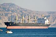 Israel, Eilat, A tanker off the coast of Aqaba