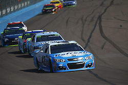 November 12, 2017 - Avondale, Arizona, United States of America - November 12, 2017 - Avondale, Arizona, USA: Kyle Larson (42) battles for position during the Can-Am 500(k) at Phoenix Raceway in Avondale, Arizona. (Credit Image: © Justin R. Noe Asp Inc/ASP via ZUMA Wire)