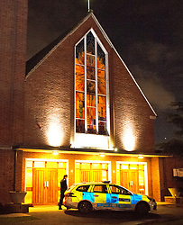 ©Licensed to London News Pictures 11/12/2019. <br /> Addiscombe,UK.  A child has been rushed to hospital after being seriously burnt at a Christmas event at Our Lady of Annuncation Church, Addiscombe, Croydon, South East London. A police cordon is in place at the church. Photo credit: Grant Falvey/LNP