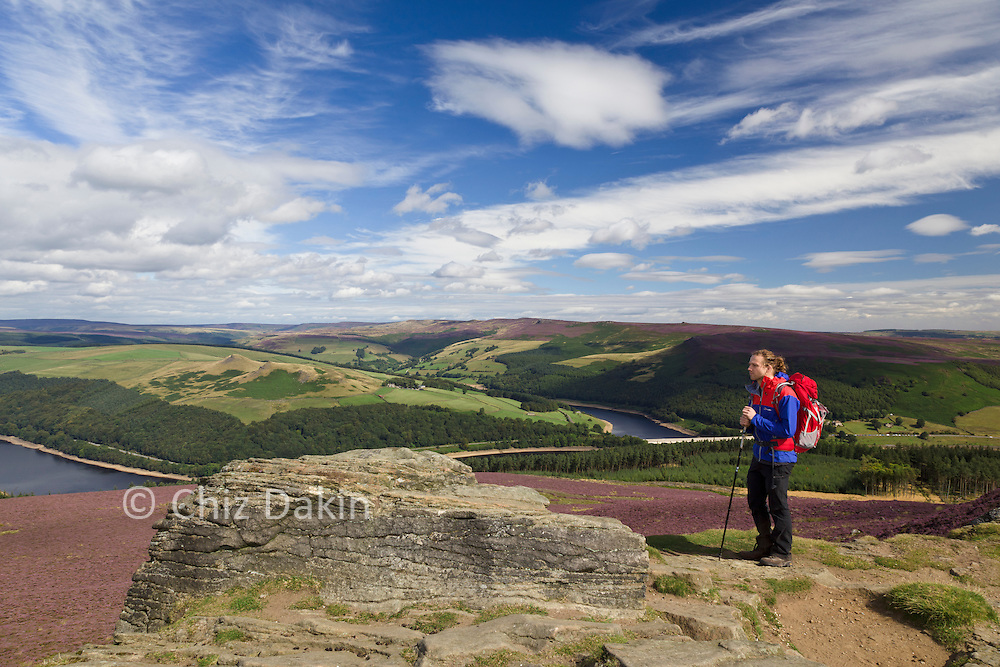 Win Hill Pike (Summit) - Ladybower Reservoir in the background