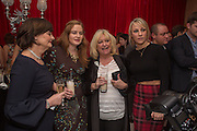 CHERIE BLAIR; KATHRYN BLAIR; JUDY FINNIGAN; CHLOE MADDELEYPre -drinks at the St. Martin's Lane Hotel before a performance of the English National Ballet's Nutcracker: London Coliseum.12 December 2013
