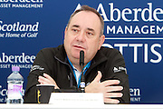 The Aberdeen Asset Management Scottish Open Golf Championship 2012 At Castle Stuart Golf Links..Final Round Saturday 14-07-12.. .Press conference on the Future of the Scottish Open,  with First Minster Alex Salmond,  George O' Grady of The European Tour, Martin Gilbert Chief Exec of Aberdeen Asset management and Roger Conrhill of Aberdeen Asset Managent,, during the FinalRound of The Aberdeen Asset Management Scottish Open Golf Championship 2012 At Castle Stuart Golf Links. The event is part of the European Tour Order of Merit and the Race to Dubai....At Castle Stuart Golf Links, Inverness, Scotland...Picture Mark Davison/ ProLens PhotoAgency/ PLPA.Saturday 14th July 2012.