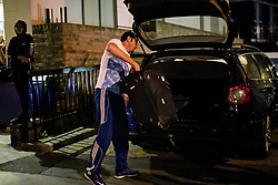 © Licensed to London News Pictures. 23/06/2017. London, UK. A man loads suitcases in to his car as residents being evacuated from the Taplow block of the Chalcots Estate in Camden after it failed a fire inspection because of combustable cladding. Prime Minister Theresa May has told Parliament that up to 600 high rise tower blocks may have similar cladding to that found in Grenfell Tower, which went on fire last week, in which as many as 79 residents are thought to have perished Photo credit: Ben Cawthra/LNP