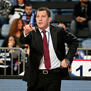 Anadolu Efes's coach Ufuk SARICA during their Turkish Basketball League match Anadolu Efes between Banvit at Arena in Istanbul, Turkey, Sunday, November 06, 2011. Photo by TURKPIX