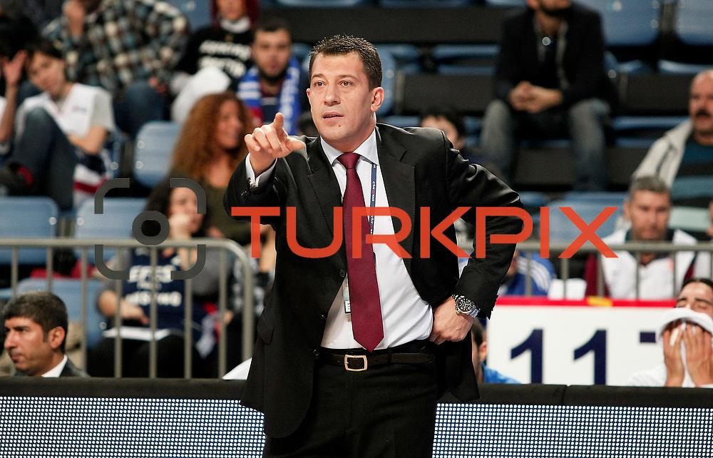 Anadolu Efes's coach Ufuk SARICA during their Turkish Basketball League match Anadolu Efes between Banvit at Arena in Istanbul, Turkey, Sunday, November 06, 2011. Photo by TURKPIX
