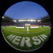 Mersin Idman Yurdu and Galatasaray's during their Turkish Superleague soccer match Mersin Idman Yurdu between Galatasaray at the Mersin stadium in Mersin Turkey on Sunday 12 May 2015. Photo by Aykut AKICI/TURKPIX
