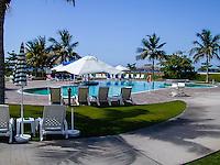 Oman. Suwadi al Batha in the Al Batinah region is located on the coast of the Gulf of Oman, and is a popular diving spot. Swimming pool at Al-Sawadi Beach Resort.