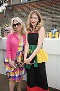 CYNTHIA CORBETT; CARMELA CORBETT, 2016 SERPENTINE SUMMER FUNDRAISER PARTY CO-HOSTED BY TOMMY HILFIGER. Serpentine Pavilion, Designed by Bjarke Ingels (BIG), Kensington Gardens. London. 6 July 2016