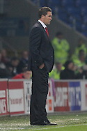 Cardiff City caretaker manager Scott Young. Capital One Cup, 3rd round match, Cardiff City v AFC Bournemouth at the Cardiff City stadium in Cardiff, South Wales on Tuesday 23rd Sept 2014<br /> pic by Mark Hawkins, Andrew Orchard sports photography.
