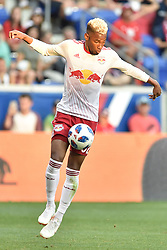 July 28, 2018 - Harrison, New Jersey, U.S - New York Red Bulls defender MICHAEL AMIR (62) in action at Red Bull Arena in Harrison New Jersey Columbus defeats New York 3 to 2 (Credit Image: © Brooks Von Arx via ZUMA Wire)