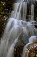 Stream water cascade over rock, Congress Trail, Giant Forest, Sequoia National Park, California