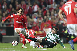 February 7, 2019 - Na - Lisbon, 06/02/2019 - SL Benfica received this evening the Sporting CP in the Stadium of Light, in game the account for the first leg of the Portuguese Cup 2018/19 semi final. John Félix and Acuna  (Credit Image: © Atlantico Press via ZUMA Wire)