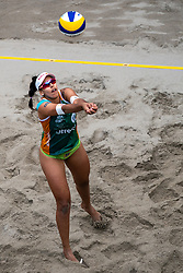 "Eduarda Santos Lisboa ""Duda"" BRA in action during the last day of the beach volleyball event King of the Court at Jaarbeursplein on September 12, 2020 in Utrecht."