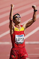 Miguel Angel Lopez (ESP) competes and wins on Men's 20 km Race Walk during the IAAF World Championships, Beijing 2015, at the National Stadium, in Beijing, China, Day 2, on August 23, 2015 - Photo Stephane Kempinaire / KMSP / DPPI