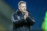 Forest Green Rovers assistant manager, Scott Lindsey during the The FA Cup 1st round match between Oxford United and Forest Green Rovers at the Kassam Stadium, Oxford, England on 10 November 2018.
