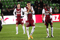 Deception Metz - Jose luis PALOMINO - 20.12.2014 - Metz / Monaco - 17eme journee de Ligue 1 -<br />