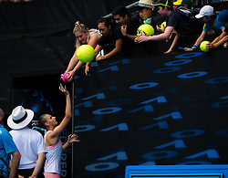 January 17, 2019 - Melbourne, AUSTRALIA - Karolina Pliskova of the Czech Republic in action during her second-round match at the 2019 Australian Open Grand Slam tennis tournament (Credit Image: © AFP7 via ZUMA Wire)